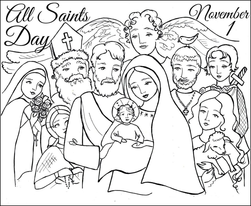 all saints day coloring pages printable