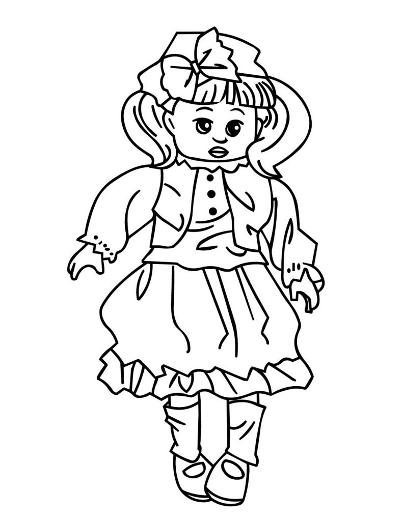 baby doll coloring page fun