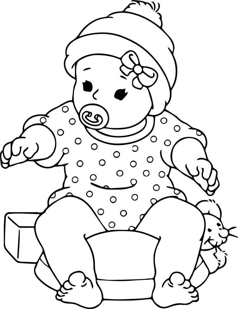 baby doll coloring page printable